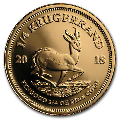 2018 South Africa 1/4 oz Proof Gold Krugerrand - SKU#152872