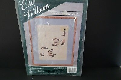 Elsa Williams Playtime Siamese Kittens Cats Crewel Embroidery Kit on Linen 00332