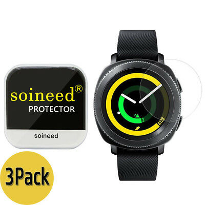 [3-Pack] SOINEED Tempered Glass Screen Protector For Samsung Gear Sport R600