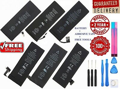 New Replacement Battery + Tape + Tools for iPhone 5 5C 5S SE 6 6S 7 8 Plus X LOT