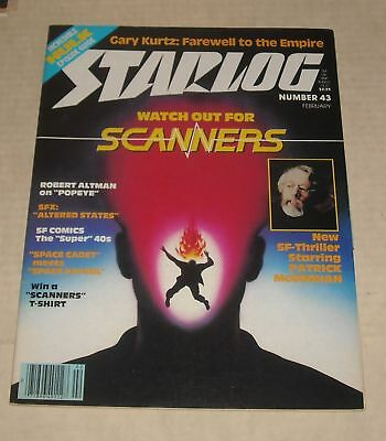 2/81 Starlog Sci Fi Magazine # 42 Scanners Hulk Episode Guide Altered States