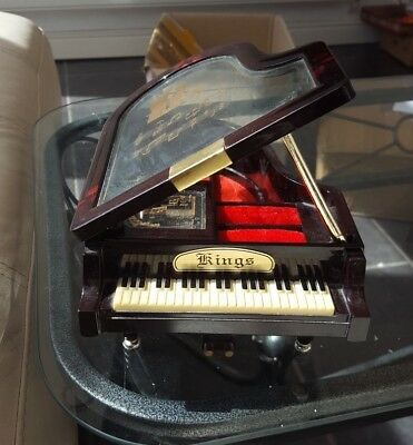 Vintage KINGS Piano Musical Box Jewellery Box - Plays LOVE STORY Theme