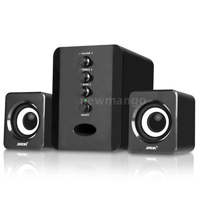 USB Wired Computer Speakers with Subwoofer for Desktop Laptop Notebook PC H9S0