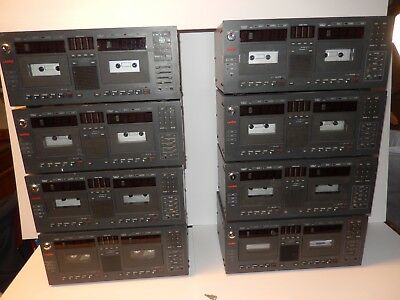 LOT of 8 Lanier LCR-5 Dual Cassette Dictation Recording Machines - AS IS