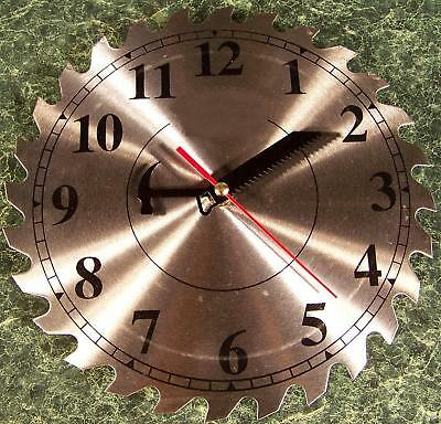 """10"""" Steel Circular Saw Blade CLOCK with Second Hand NEW"""