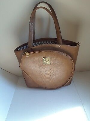 Court Couture Tennis Leather Bag Canova Cafe Au Lait Te Slightly Irregular
