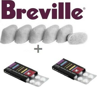 BREVILLE Espresso Accessories. 2 x 8 Cino Cleano Tablets & 1 x 6 Water Filters