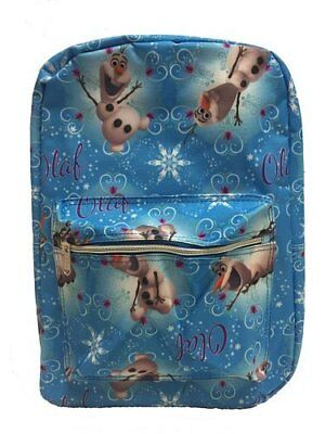 """Disney Frozen Olaf Baby Blue color All Printed 16"""" School Backpack"""