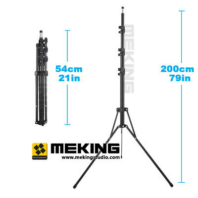 """200cm 6'6"""" L-1700 Collapsible Light Stand For Photo Video Studio Lighting NEW"""