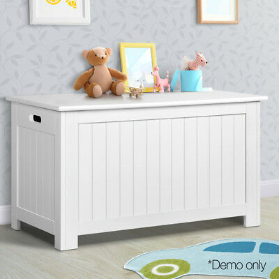 NEW Wooden White Kids Toy Box Nursery Room Chest Storage Bench Lift Up Lid Towel