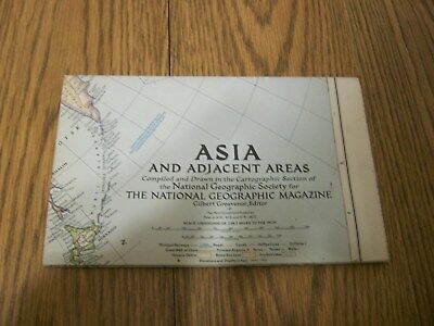 national geographic magazine map asia and adjacent areas 1951