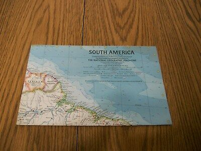 national geographic magazine map of south america 1960