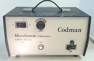 Codman Surgical Microsystem Twin Beam Light Source