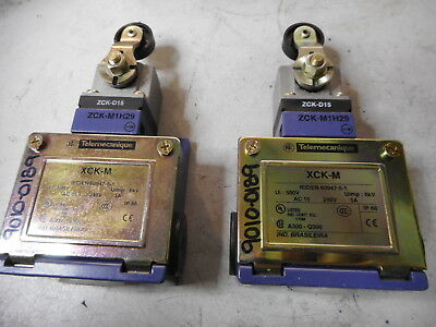 TELEMECANIQUE ROLLER ARM LIMIT SWITCHES -- Qty of 2--  N/O + N/C -- 14CE1-3