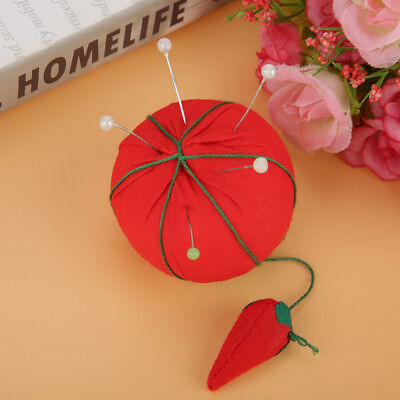 10pcs 5cm Cute Tomato Shape Pin Cushion Needle Holder Button Storage Sewing DIY