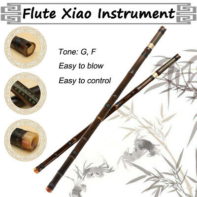 8 Holes Chinese Instrument Bamboo 2Sections Profession Flute Xiao G/F Key+Bag AU