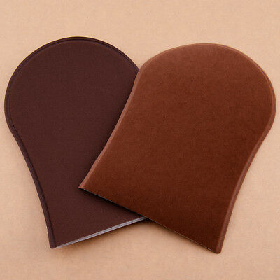 2x Reusable Velvet Self Tanner Tanning Lotions Applicator Application Mitt Spray