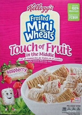 KELLOGG'S 'Frosted Mini Wheels' Raspberry Touch of Fruit in the Middle 425gr USA