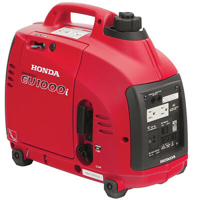 Super Quiet Honda EU1000i 1000 Watt Lightweight Portable Generator w/ Inverter