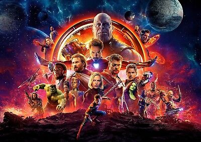 Infinity War Poster, NEW Marvel Avengers Movie 2018, FREE P+P, CHOOSE YOUR SIZE