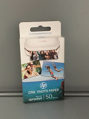 HP ZINK Fotopapier 5 x 7.6 cm  HP Sprocket Photo Printer 50 Stück Blätter W4Z13A
