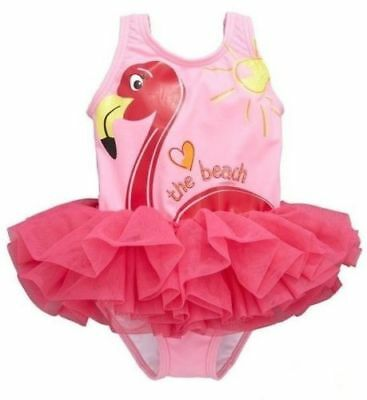 MINI V BY VERY BABY GIRLS TUTU FLAMINGO SWIMSUIT PINK NEW (ref 497) SALE