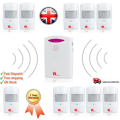 Wireless Outdoor Entry Alarm Alert Driveway Shed PIR Motion Sensor Visitor Chime