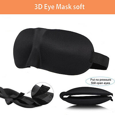 Eye Mask soft 3D Travel Sleep Memory Foam Padded Shade Cover Sleeping Blindfold