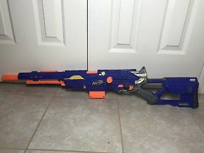 Nerf N-Strike LongStrike CS-6 Sniper Rifle With Barrel Extension, works!