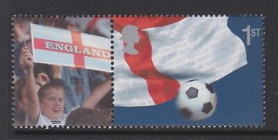 SPECIAL OFFER. GREAT BRITAIN 2002 WORLD CUP 1st + LABEL ex LS8 MNH.