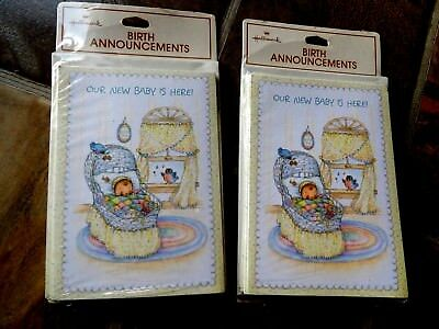 Hallmark 20 Baby Announcements new sealed packages USA unused