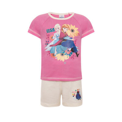Disney Frozen Elsa Anna Official Gift Toddler Girls Short Pyjamas