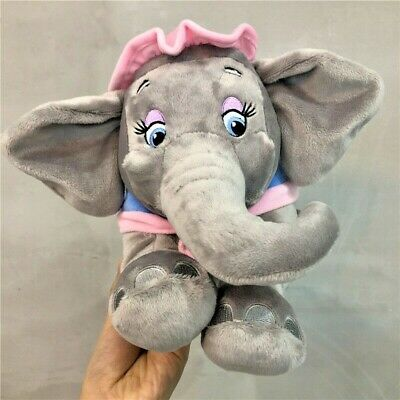 Disney MRS JUMBO the Elephant Dumbo's Mom 14in Grey Pink Soft Plush