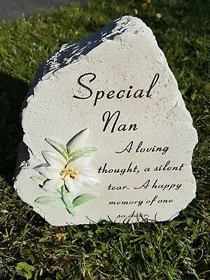 Nan Grave Memorial Ornament Remembrance Lilly Plaque Nan