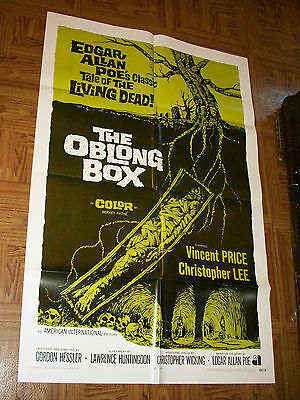 original THE OBLONG BOX one-sheet poster Vincent Price Christopher Lee