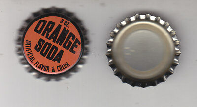 Orange Soda  Bottle Caps.100 Pieces  Plastic Lined Unused  Never Crimped