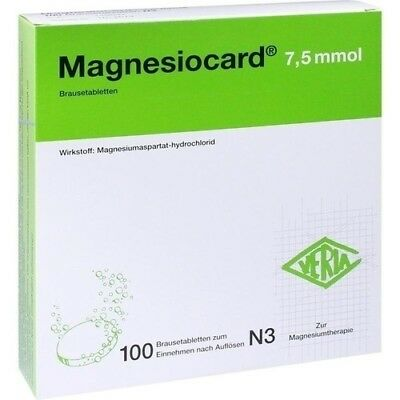 MAGNESIOCARD 7,5 mmol Brausetabletten 100 St 00110303