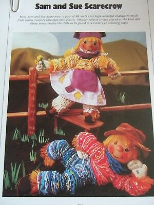 SEWING PATTERN Jean Greenhowe 6 Stretchy Dolls Toy Scarecrow RARE ...