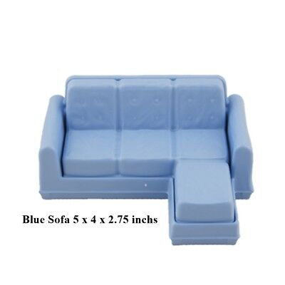 New Fisher Price Loving Family Dollhouse Blue Sofa Set