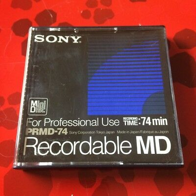 Sony PRMD-74 Blanc New Recordable Minidsc For Professional Use Vierge Neuf