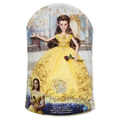 DISNEY DOLL BELLE IN BALL GOWN DECORATION NICE Und Das Beast Hasbro B9166