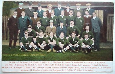 South Africa To England 1906 – Original Vintage Rugby Union Postcard