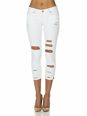 c78816f05cd Cover Girl Denim Ripped Jeans for Women Juniors Cropped Slim Fit Skinny  Jeans