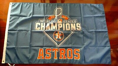 Houston Astros World Series Champs 3x5 Blue Flag. Free shipping within the US
