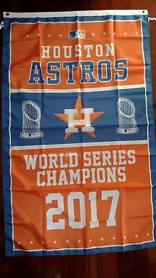 Houston Astros World Series Champs 3x5 Flag. Free shipping within the US