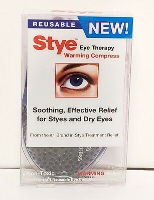 Stye Eye Therapy Warming Compress REUSABLE Compress and Cover EXP 03/2019 New