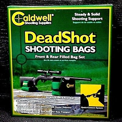 CALDWELL DEADSHOT BOXED Front Rear Bag Rest 2 PC Hunting Gun Rifle ... 476f0059c54