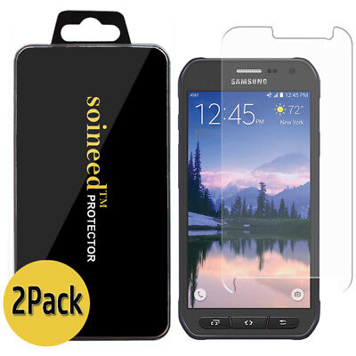 <2-Pack> SOINEED Tempered Glass Screen Protector For Samsung Galaxy S6 Active