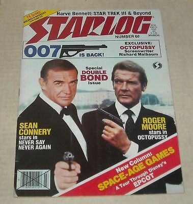 3/83 Starlog Sci Fi Magazine #68 James Bond Connery & Roger Moore Octopussy