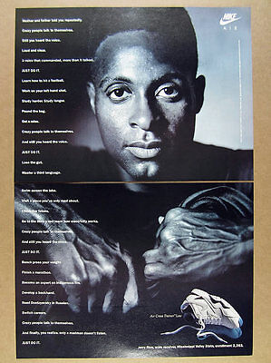 1991 jerry rice photo Nike Air Cross Trainer Low shoes vintage print Ad